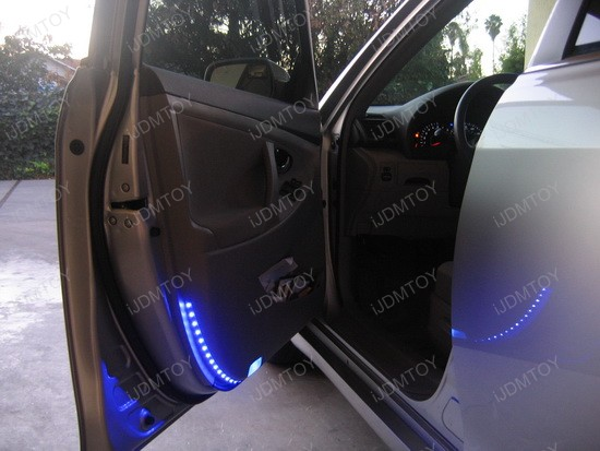 Blue led strip lights ijdmtoy blog for automotive lighting toyota camry led strips side door lights 2 aloadofball Gallery